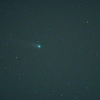 ほったらかし温泉付近で撮ったLovejoy彗星 C/2013 R1 RICOH GXR A12 Mount M, LENS OLYMPUS ZUIKO 180mm F2.8