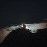 大晦日明け方の月と岐阜城 PENTAX K-S2 smc PENTAX-DA L 1:4-5.6 50-200mm ED WR
