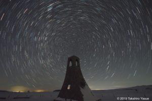 北天の星空と美しの塔 PENtAX K-S2, SIGMA 8-16mm F4.5 DC HSM