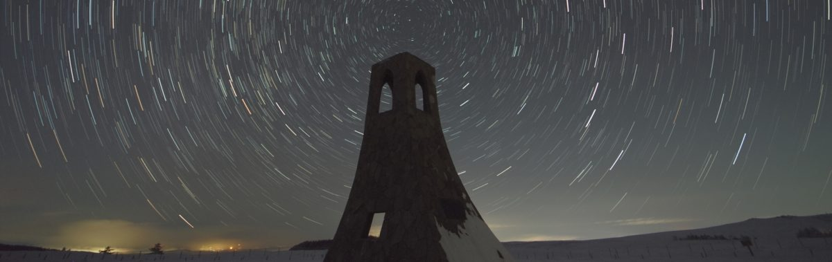美しの塔と北天